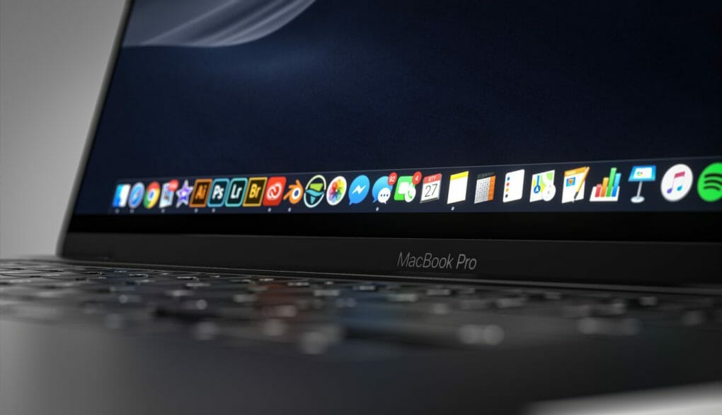 Apple macbook (macOS) with touchscreen
